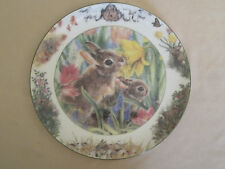 MAY DAY collector plate BACKYARD BUDDIES Crestley Collection BUNNY RABBIT