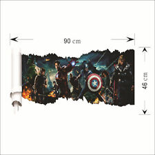 HOME AVENGERS 3D wallpaper wall sticker mural decor Iron Man Thor Hulk Marvel