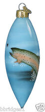 *Inside Art - Trout* Fish - Old World Christmas Glass Ornament - NEW
