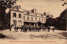 CPA  Ecole Primaire Supérieure de St-Aignan - Facade Sud -Cour de ... (208972)