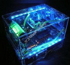 Diy Acrylic Transparent Case Atx Double Computer Box for Water Liquid Cooling