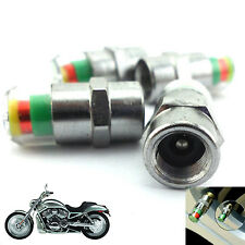 2.Pcs Motorcycle Tire Pressure Monitor Valve Stems Caps Covers Sensor For Harley