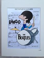 The Beatles - Ringo Starr - Hand Drawn & Hand Painted Cel
