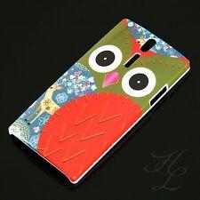 Sony Ericsson lt26i xperia s Hard Case funda Búho Rojo, estuche, protección Owl hibou