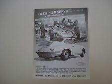 advertising Pubblicità 1990 OLDTIMER SERVICE e PORSCHE 356 C CARRERA 2