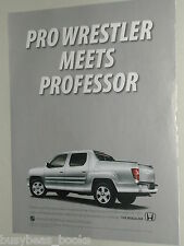 2010 HONDA RIDGELINE advertisement, Honda Ridgeline pickup truck, short box