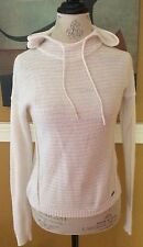 Abercrombie & Fitch ~ Womens Hooded Crocheted Sweater ~ Ivory ~ Size XS