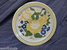 Antique RED WING POTTERY ART DECO BRITTANY FLORAL CHOP PLATE PLATTER