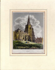 St. SEPULCHRE'S CHURCH, NORTHAMPTON - SCARCE 210 YEARS OLD COPPERPLATE ENGRAVING