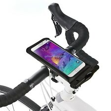 Bicycle Waterproof Pouch Bag W/Mount Holder For Samsung Galaxy Note 4/Note Edge