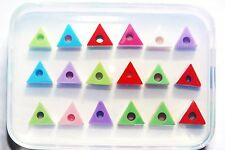 Clear-silicone beads Molds,18-pc,Triangle Spacer Beads 12x9mm (1-85)
