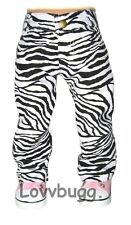 "Zebra Jeans Black White Pants for 18"" American Girl Doll Clothes Best Selection"