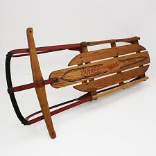 Vtg Yankee Clipper No.12 L Flexible Flyer Oak Wooden Snow Hill Sled Cabin Decor