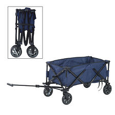 Outsunny Folding Wagon Cart Collapsible 140lbs Utility Pulling 4 Wheels Sho