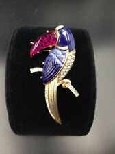 Hattie Carnegie Toucan Designer Brooch Attributed Carnegie Colorful Lucite Beak