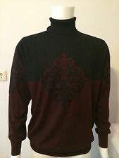 NWT Men's STEFANO RICCI Sweater, Made In Italy, Color Red Wine,Size XXL (54)