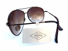 NEW men's  FOSSIL brown aviator sunglasses