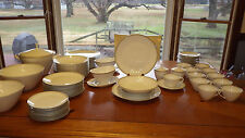 Vintage Fine China Dinnerware Set Grey Band with Gold by Arzberg Germany 1957