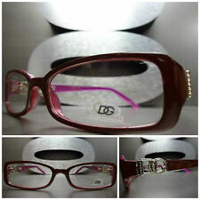 Men's or Women CONTEMPORARY MODERN DG Eyewear EYE GLASSES Maroon & Purple Frame