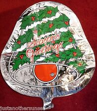 "Metallic Foil Round Balloon 18"" Christmas Seasons Greetings Silver Bells Jingle"