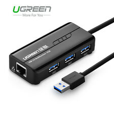 Ugreen 3 Ports USB 3.0 Gigabit Ethernet Lan RJ45 Network Adapter Hub to 1000Mbps