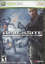BLACKSITE AREA 51 for Xbox 360 - with box & manual - NTSC