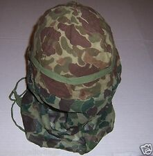Snipers Camo helmet & face cover WWII US military genuine GI military surplus au