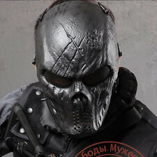 Airsoft Paintball Metal Mesh Eye Protect Full Face Mask Cosplay Game Skull BG