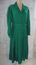 Vintage 80s Emerald Green St Michael Shirtwaister Dress UK 20 EU 50