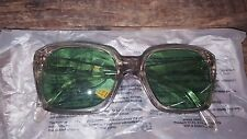 Uvex green lens safety glasses NOS VTG