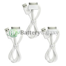 """3 White USB Sync Battery Charger Cable for Samsung Galaxy Note 2 Tablet 10.1"""""""