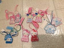 Sanrio Trinket Cellphone Felt Charm Complete Set Cinnamoroll Usahana Hello Kitty