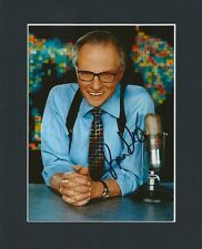 LARRY KING LIVE CHATSHOW HOST ORIGINAL HAND SIGNED MOUNTED AUTOGRAPH PHOTO &COA