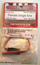 NEW VAM POWER PRO VP2121 AWG 22 Wire Female Single End HD JR/Hitec RC Connector
