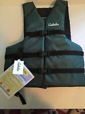 NEW Cabela's  Life Vest Forest Green  Adult  Universal Sizing