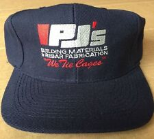 Vintage Original PJ's 'Building Materials & Rebar Fabrication' Adjustable Hat
