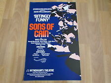 SONS of CAIN  with Max CULLEN  Clark & Volska WYNDHAM's Theatre Original  Poster