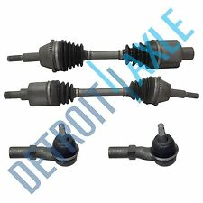 2 Front Driver and Passenger CV Axle Shaft w/ ABS AXOD, AX4S Trans + 2 Tie Rods