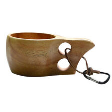1 Pc Kuksa Wood Wooden Craft Cup Finland Handmade Dual Ring Mug Home Decor Gift