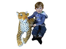 "Large Leopard Soft Toy Plush 140cm 50"" Deluxe Paws ® Realistic Features"