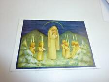 "vintage blank 70` greeting cards  Spötl""maria and angels""1308"""