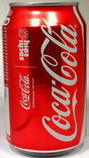 EMPTY UNOPEN 11oz 330ml Can Genuine Russian Coca-Cola Sochi 2014 Winter Olympics