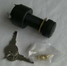 BOAT & OUTBOARD IGNITION SWITCH IN BLACK PLASTIC OFF / ON / SPRUNG STARTING.