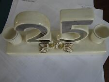 Norcrest 25 year anniversary lustreware candle holder
