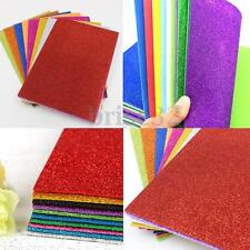 10Pcs Adhesive Glitter Scrapbooking Paper Vinyl Sticker Art Sheets  Craft 8x12""