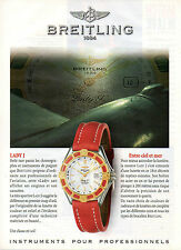 Publicité Advertising 1997  Montre BREITLING  LADY J  entre ciel et mer