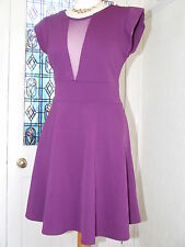 SIZE 16 PLUNGE NECKLINE STUDDED SKATER STYLE DRESS FROM BE BEAU VGC