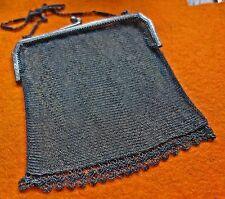 Sehr feine antike Operntasche - Kettentasche - Silber Tasche - Theatertasche