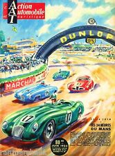 1953 - 24 Hours Le Mans France Automobile Race Car Advertisement Vintage Poster