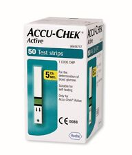 Accu-Chek Active Test-Strips 50 by Roche exp. July 2017 + 10 free lancets